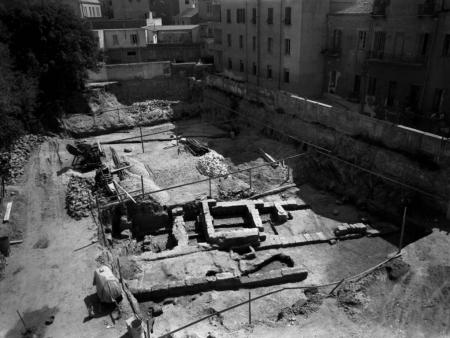 Veduta generale degli scavi, Mario Pes 1956