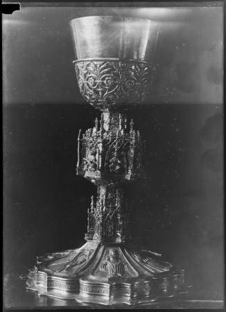 Calice in argento dorato, Orafo cagliaritano del secolo XVI