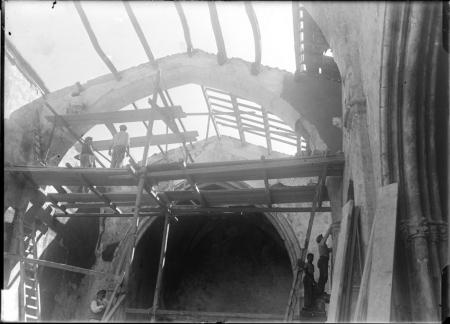 Archi della volta (durante il restauro)
